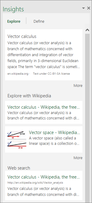 Excel 2016 for Windowsin Tiedot-ruutu