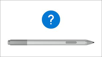 Surface-kynä ja kysymysmerkki
