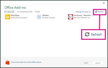 Office-apuohjelmien Päivitä-painike