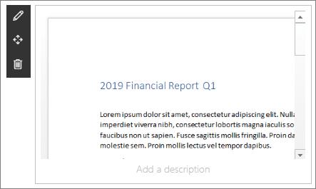 Tiedoston katselu ohjelman verkko-osa SharePoint Onlinen esimerkki nykyaikaisen yrityksen aloitus sivustossa