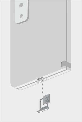 Surface Duo 2 SIM -kortin lokero.