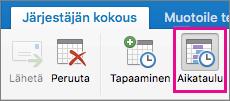 Mac 2016:n ajoituspainike
