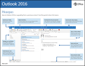 Outlook 2016 -pikaopas (Windows)
