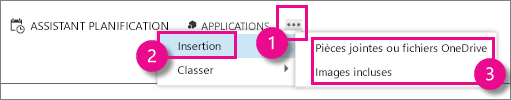 More Actions button in Outlook Web App
