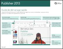 Guide de démarrage rapide de Publisher2013