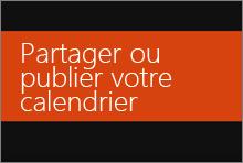 Partager ou publier votre calendrier Office365