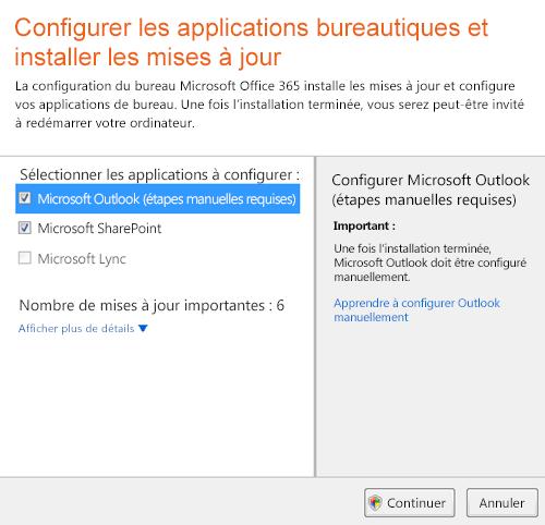 Configurer des applications de bureau et installer des mises à jour