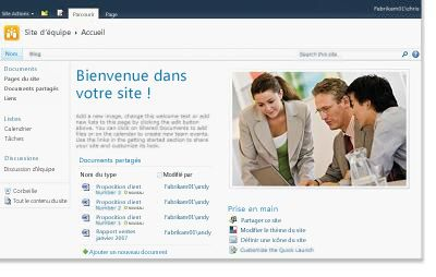 Site d'équipe SharePoint