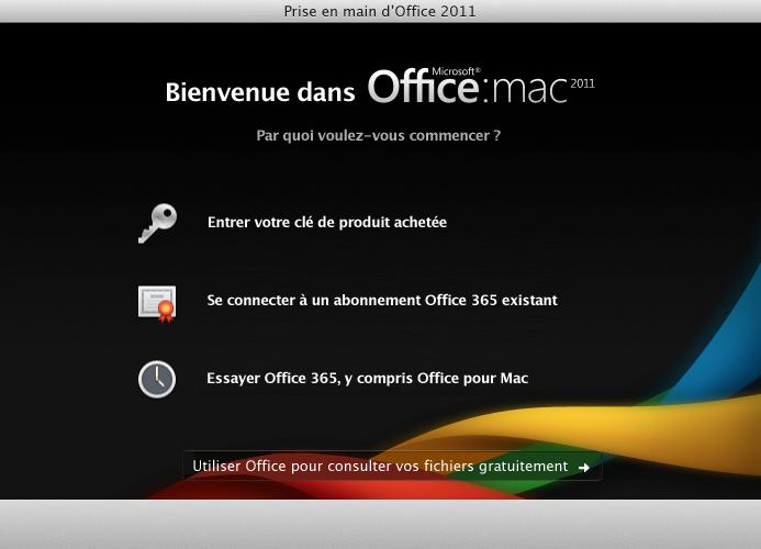 Connectez-vous à un abonnement Office365 existant