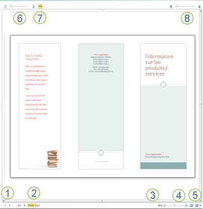 Aperçu avant impression dans Publisher2010