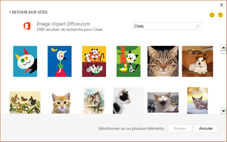 Exemple d'images de chats sur le site des images clipart