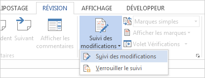 Suivi des modifications