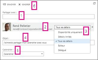 Partager le calendrier dans Office WebApp