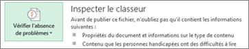 Inspecter un document dans Word2013