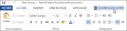 Ouvrir l'application Office complète au lieu d'exécuter Office Online