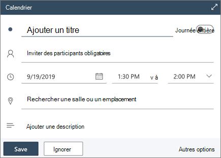 Rédaction rapide dans Outlook sur le Web