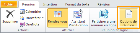 Image du ruban Outlook