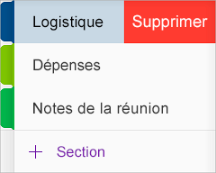 Supprimer une section dans OneNote pour iOS
