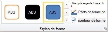 Groupe Styles de formes
