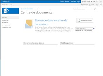 Modèle de site Centre de documents