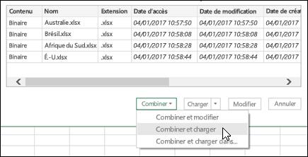 Option combiner des fichiers binaires de combiner et de chargement