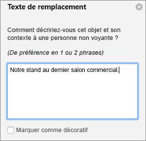 Le volet de texte de remplacement dans Word
