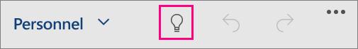 Icône «Rechercher» dans Office pour Windows10 Mobile