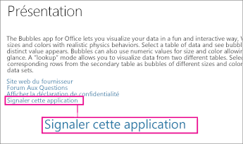 Office Store - Lien Signaler cette application