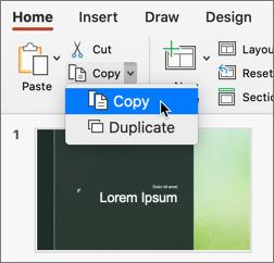 Copier la diapositive