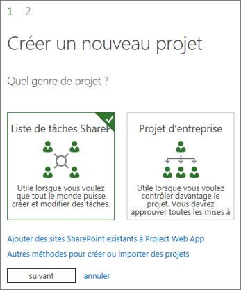 Créer un projet