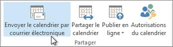 Envoyez votre calendrier par courrier électronique