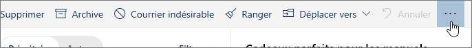 Capture d'écran du bouton Autres commandes