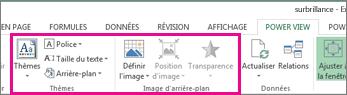 Outils de mise en forme des rapports dans PowerView