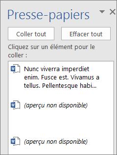 Utiliser Le Presse Papiers Office Word