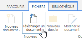 Bouton Télécharger un document sur le ruban