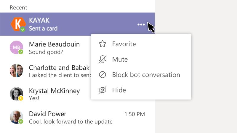Menu du robot affichant l'option Muet