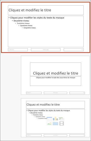 Masque des diapositives dans PowerPoint pour Mac