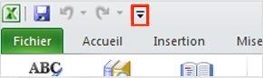 Fonctionnalité vocale de la barre d'outils Accès rapide d'Excel