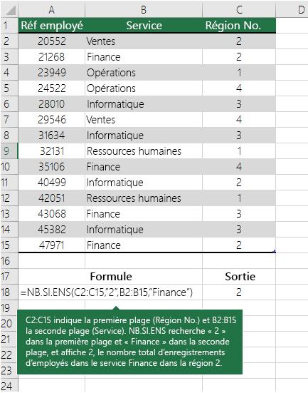 Exemple de fonction NB.SI.ENS