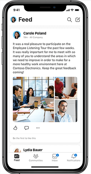 Application mobile Yammer