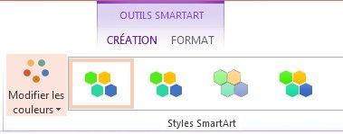Bouton Modifier les couleurs dans le groupe Styles SmartArt