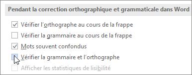 Cases à cocher Grammaire