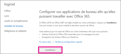 Configurer vos applications de bureau pour fonctionner avec Office 365