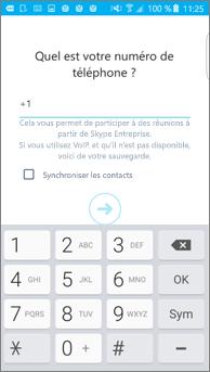 Capture d'écran de la fenêtre dans laquelle vous entrez votre numéro de rappel sur un téléphone Android