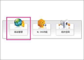 Cliquez sur «域名管理»