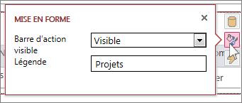 Boîte de dialogue Mise en forme dans une vue de feuille de données Web