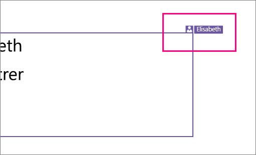 Icône représentant une personne travaillant sur une section d'une diapositive dans PowerPoint2016 pour Windows