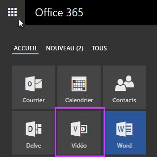 Icône d'Office365 Vidéo dans le lanceur d'applications