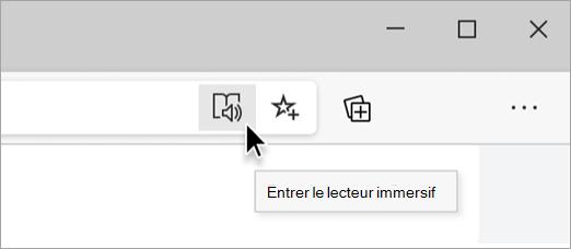 Entrer le lecteur immersif dans Microsoft Edge