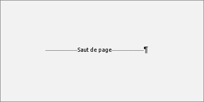 Montre un exemple d'un saut de page.